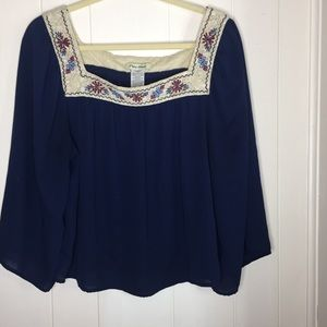 Flying Tomato blue bell sleeves top size XL